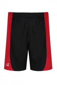 Black/ Red PE Shorts Embroidered shorts